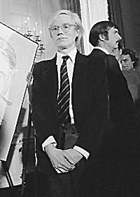 Picture of Andy Warhol.