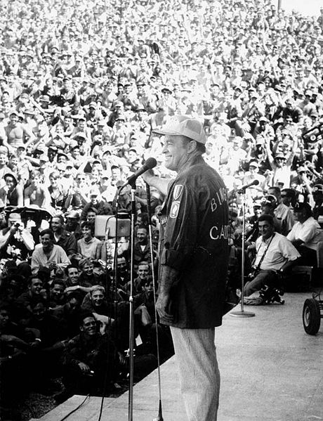 Picture of Bob Hope. Bob Hope at USO