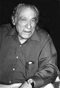 Picture of Charles Bukowski. Charles Bukowski at home in San Pedro, California, 1990.