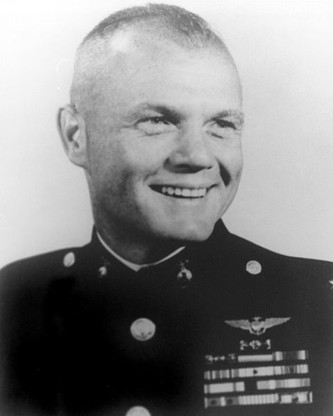 Picture of John Glenn. Military portrait of John Glenn