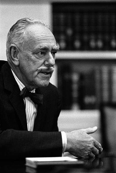 Picture of Dean Acheson. Dean Acheson at Meeting of President's consultants on Foreign Affairs (The Wise Men), 8 July 1965, picture by Yoichi R. Okamoto
