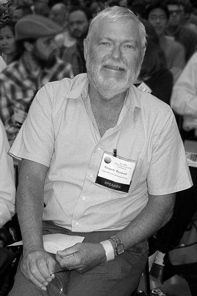 Picture of Gregory Benford. Greg Benford at the 2008 University of California, Riverside J. Lloyd Eaton Science Fiction Conference.