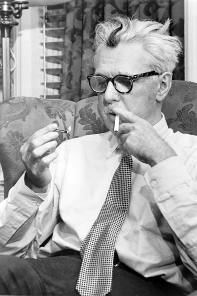 Picture of James Thurber. James Thurber, American writer, 1954, Fred Palumbo, World Telegram staff photographer