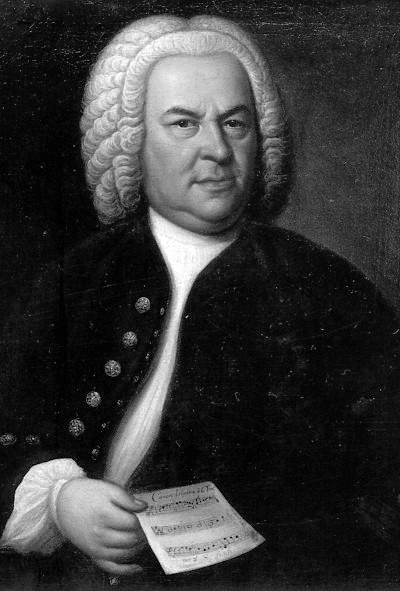 Picture of Johann Sebastian Bach. Johann Sebastian Bach (aged 61) in a portrait by Elias Gottlob Haussmann, copy or second version of his 1746 Canvas, private ownership of William H. Scheide, Princeton, New Jersey, USA. The original painting hangs in the upstairs gallery of the Altes Rathaus (Old Town Hall) in Leipzig, Germany.