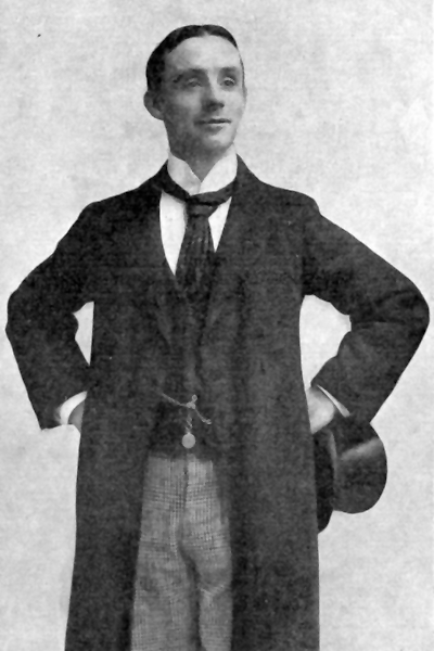 Picture of Dan Leno. Dan Leno, approximately 1880s. Printed facing title page in 'Dan Leno, hys booke By George Galvin', published 5 November 1899. Photograph attributed to the Sims and Ronsham studio.