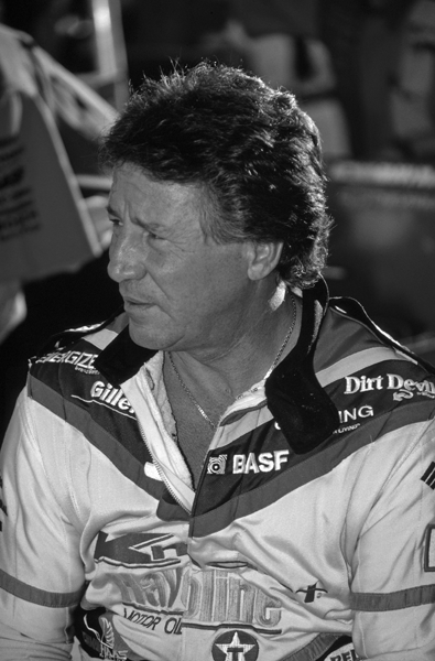 Picture of Mario Andretti. Mario Andretti at the 1991 United States Grand Prix in Phoenix, Arizona. Picture by Stuart Seeger.
