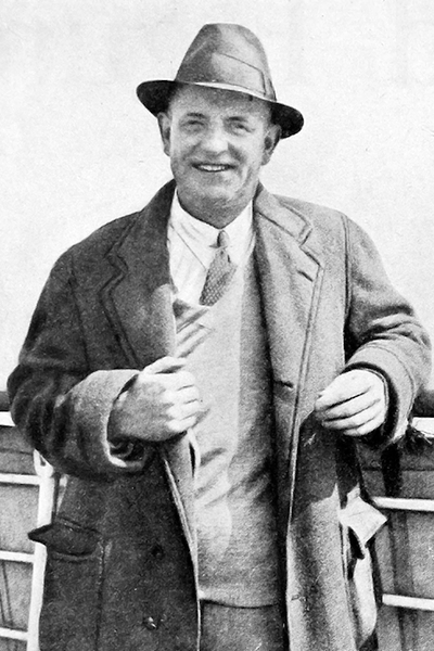 Picture of P.G. Wodehouse. Copyright expired. From Screenland, August 1930 (Vol XXI, No 4); p. 20