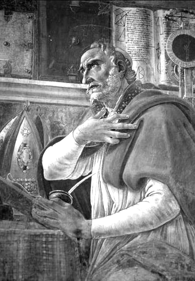 Picture of Augustine of Hippo. Saint Augustine in His Study by Sandro Botticelli, 1480, Chiesa di Ognissanti, Florence, Italy