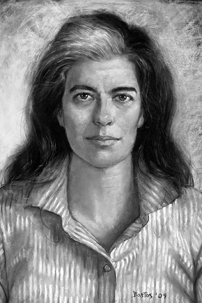 Picture of Susan Sontag. Susan Sontag in 1994, by Juan Fernando Bastos (commissioned by the The Gay & Lesbian Review Worldwide for the 2009 May–June cover)