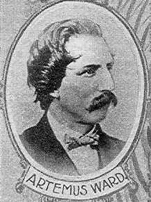 Picture of Artemus Ward. Artemus Ward, from book Wit and Humor of the Age, 1901