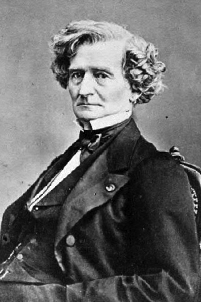 Picture of Hector Berlioz. Crop of a cabinet card photo of Hector Berlioz by Franck, Paris, ca. 1855.