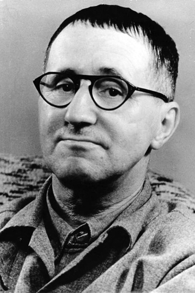 Picture of Bertolt Brecht. Bertolt Brecht, photograph released into the public domain from the German Federal Archive.