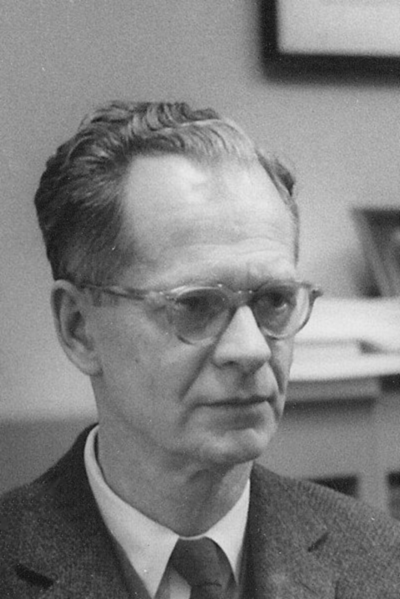 Picture of B.F. Skinner. B.F. Skinner at the Harvard Psychology Department, circa 1950