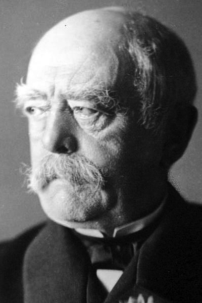 Picture of Otto von Bismarck. Otto von Bismarck-Schönhausen (Reichskanzler of Germany, 1871 - 1890) in Bad Kissingen on 31st August 1890 after his resignation. Photo by Jacques Pilartz.