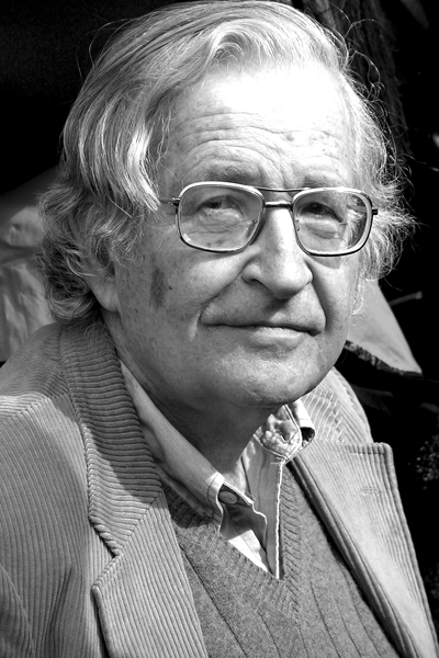 Picture of Noam Chomsky.