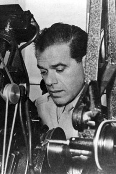 Picture of Frank Capra. Frank Capra cuts Army film as a Signal Corps Reserve major during World War II. (This photo taken circa 1943.)