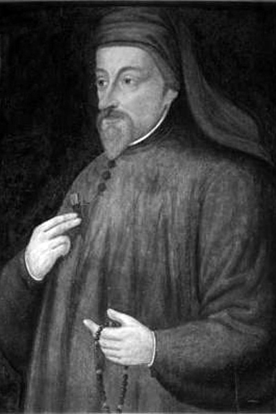 Picture of Geoffrey Chaucer. Anonymous portrait of Chaucer from the 17th century.