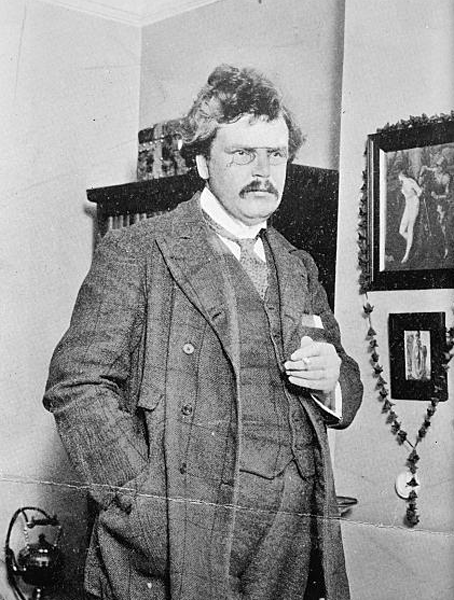 Picture of G.K. Chesterton. This image is available from the United States Library of Congress's Prints and Photographs division under the digital ID ggbain.06610