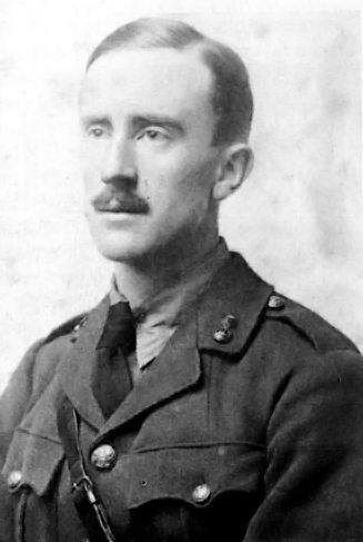 Picture of J.R.R. Tolkien. JRR Tolkien in 1916